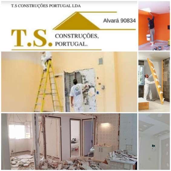 Construções remodelações pinturas, trolha pedreiro tectos falsos etc