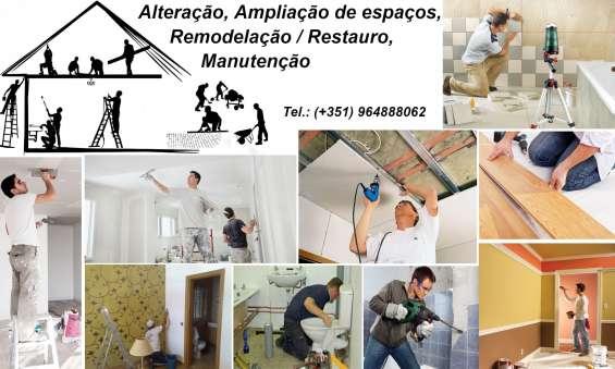 Pedreiro, ladrilhador, canalizador, pintor,. . remodelações gerais.